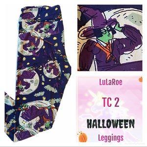 LuLaRoe TC2 HALLOWEEN Leggings Witch Black Cat NEW